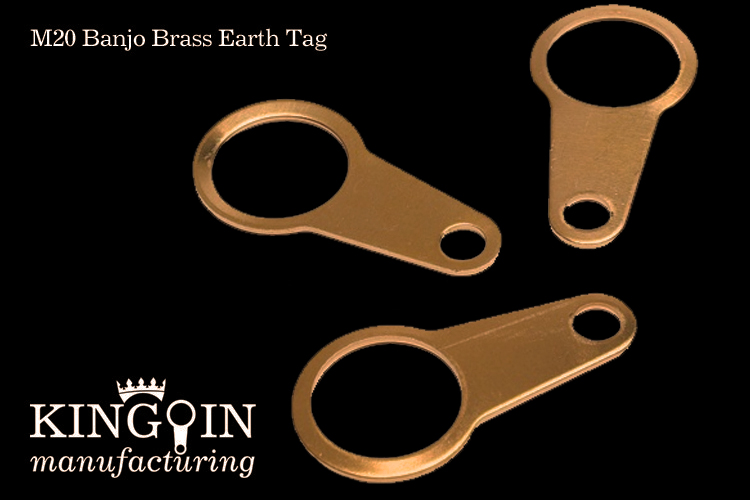 Banjo Brass Earth Tag